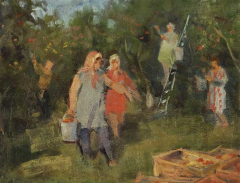 collecting apples by boris vladimirovich arakcheev