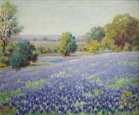untitled bluebonnet landscape by mary smith