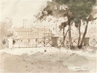 a view in rome by john stanton ward