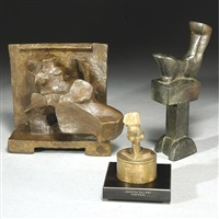 maquette per la metopa della madre (+ 2 others; 3 works) by mario negri