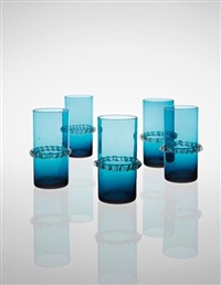 set of five 'crinoline' glasses by gio ponti
