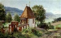 kapelle im schwarzwald by wilhelm g. hasemann
