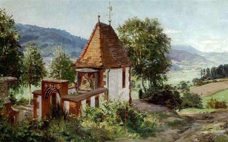kapelle im schwarzwald by wilhelm g hasemann