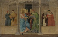 christ driving the money-changers from the temple by fra angelico