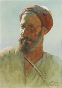sunshine - egyptisk man by carl haag