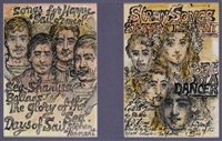cover designs for songs for happy sailormen and siren songs (2 works) by stephen tennant
