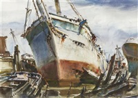 ship's boneyard by james milton sessions
