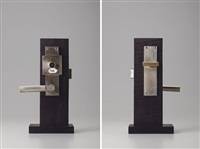 door handle and lock plate by walter gropius