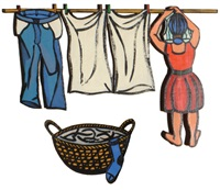 washing lady & washing basket (2) by theo koning