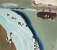 kor vid havet (cows by the sea) by lage lindell