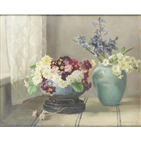 a still life of spring flowers by nora heysen
