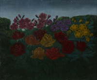 fleurs au crépuscule by andré bauchant