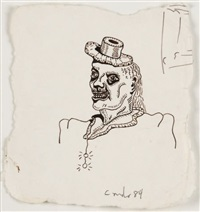 personnage au chapeau by george condo