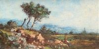 paysage animé by vincent joseph françois courdouan