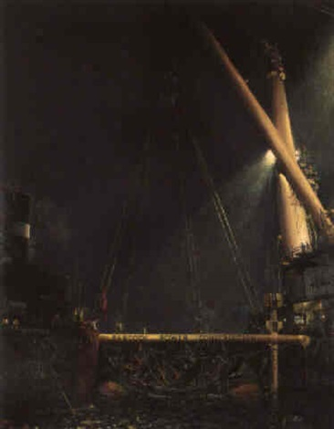 the raising of the mary rose babcock power construction in operation by terence cuneo