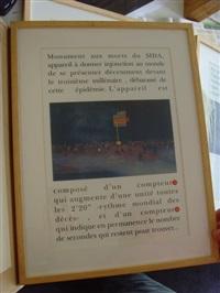 projet de monument aux morts du sida (6 works) by agence nemo