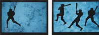 men at bat (2 works) by eve sonneman