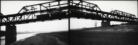st louis railroad bridge diptych by robert frank