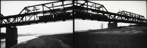 st. louis railroad bridge (diptych) by robert frank