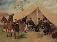lincoln at camp by thomas nast