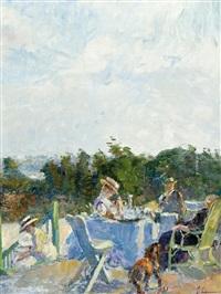 la terrasse by georges (ferdinand) lemmers