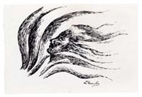 volto femminile tra capelli e profumo by luigi russolo