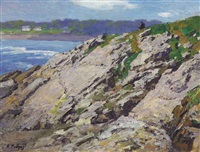 looking out to sea, the coast of maine by edward henry potthast