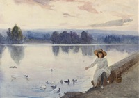 feeding the ducks by albert henry fullwood