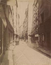 rue beaubourg à paris by eugène atget