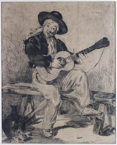 the spanish singer le chanteur espagnol by édouard manet