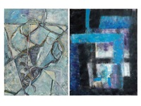 abstract composition (2 works) by erol akyavas