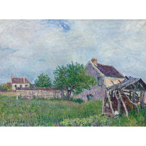 vieille chaumière aux sablons by alfred sisley
