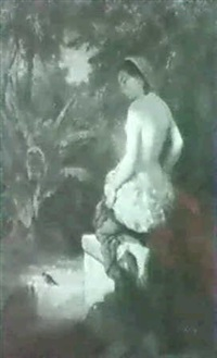 the bather surprised by léopold guterbock