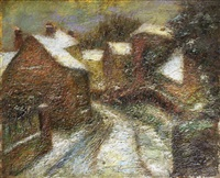 le chemin enneigé by alfred dunet