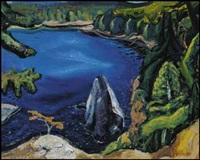 on pender island, east coast of vancouver island, bc by arthur lismer