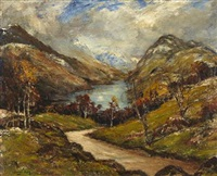 the arrochar alps from finnart brae by james kay