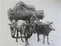 la charrette de foins by patrice serres