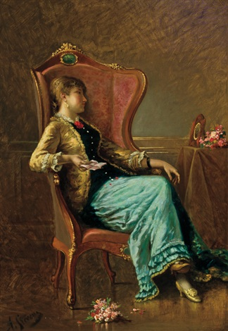 the love letter by alfred stevens