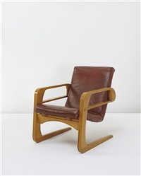 airline armchair (from the projection room, walt disney studios, burbank) by k.e.m. weber