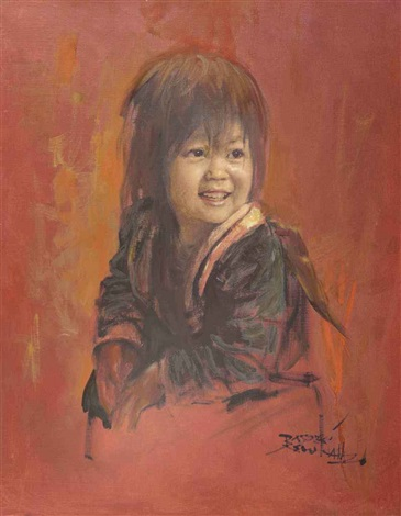 portrait of a child by raden basoeki abdullah