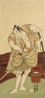 otani hiroji iii as menukishi umetada tokubei (hosoban) by ippitsusai buncho