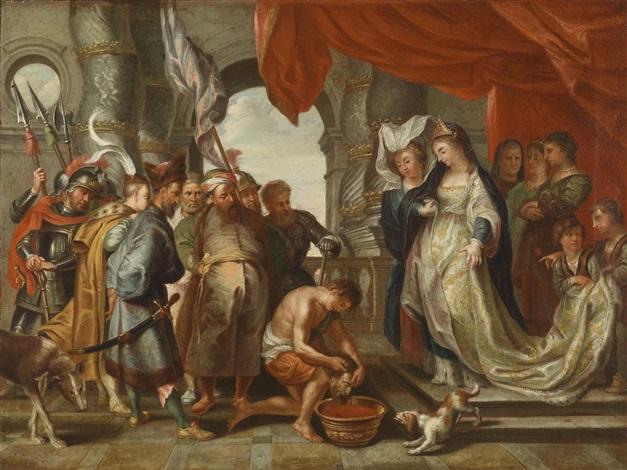 königin tomyris mit dem haupt des perserkönigs kyros by sir peter paul rubens