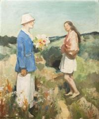 picking flowers by hugo böttinger
