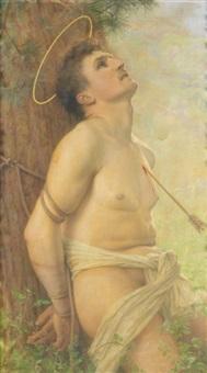 saint sébastien by gustave claude etienne courtois