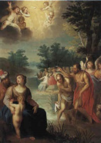 st. john the baptist preaching by jacob andries beschey