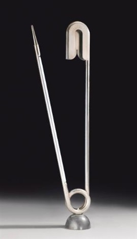 épingle de nourrice floor lamp by yonel lebovici