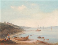 the river elbe at blankenese by cornelius gurlitt