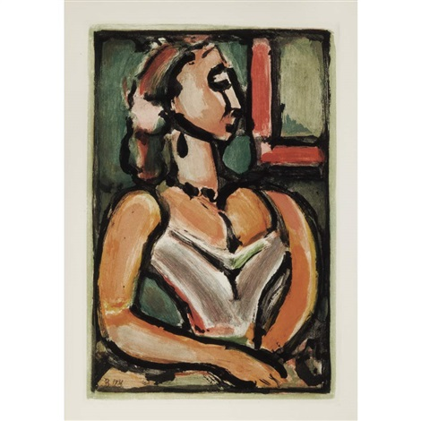 femme fiere by georges rouault