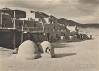 taos pueblo by ansel adams