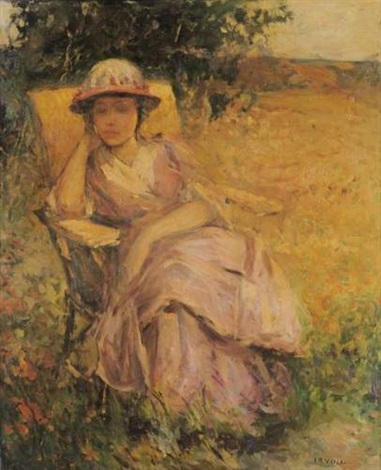 Femme alanguie dans un jardin by wilson henry irvine on artnet for Jardin wilson